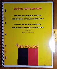 New Holland 327 Single Amp Triple Beater 130 Bushel Manure Spreader Parts Manual