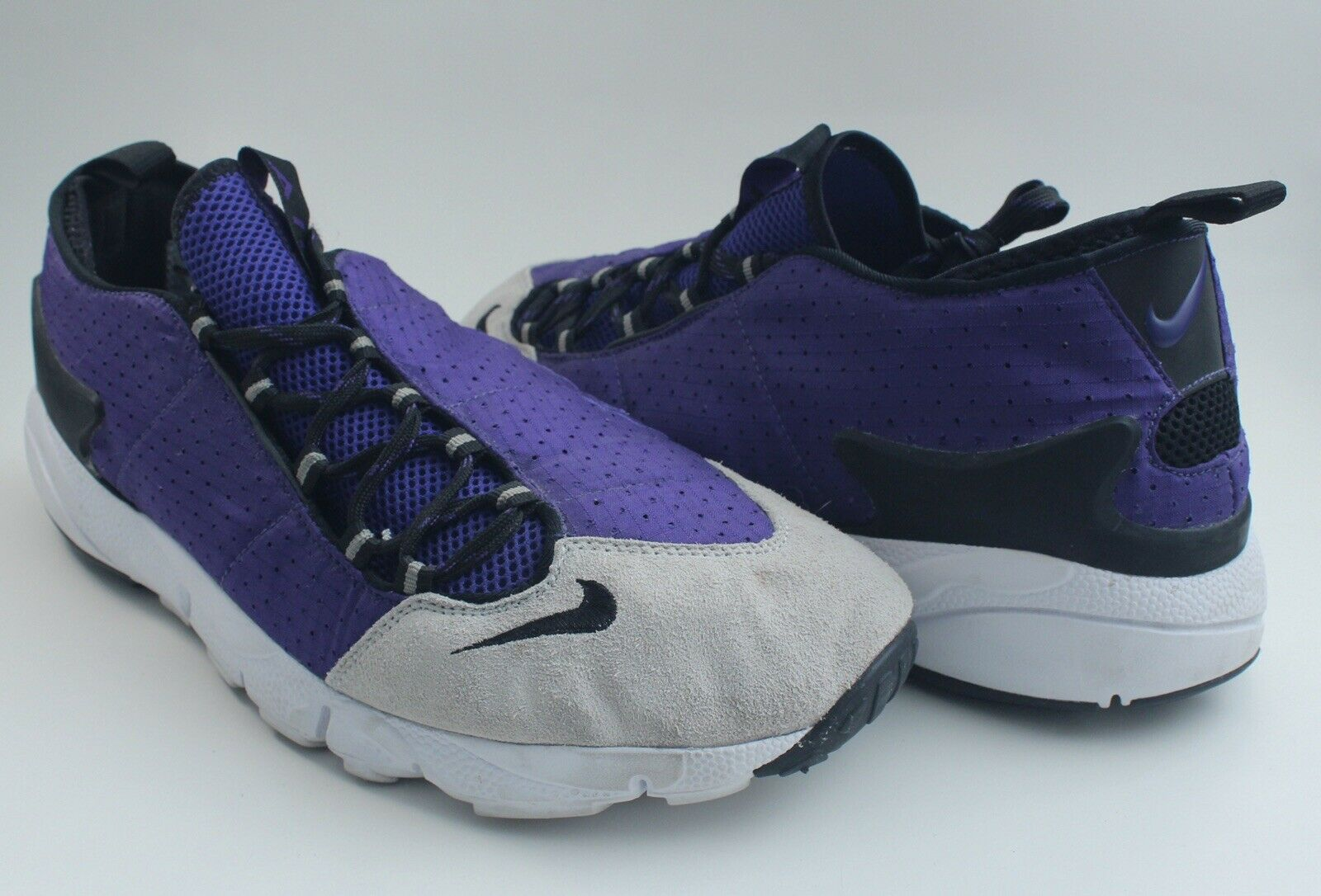Nike Men Air Footscape Motion Purple Black Pure Platinum Sz men's 13 599470 501