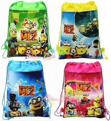 New Whole Despicable Me Minions Series Children PE Drawstring Toys Bag Backpack
