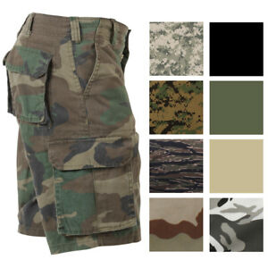 e848b9c204 Image is loading Vintage-Camo-Cargo-Shorts-Military-Paratrooper-Camouflage -Tactical-