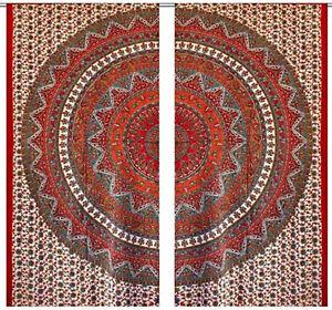 Image is loading Hippie-Decor-Mandala-Curtains-Bohemian-window-Valances-Door -  sc 1 st  eBay & Hippie Decor Mandala Curtains Bohemian window Valances Door Tapestry ...