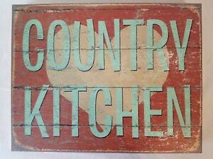 Wood Vintage Country Kitchen fruit Peach  Dumpling Recipe Wooden art Decor Sign