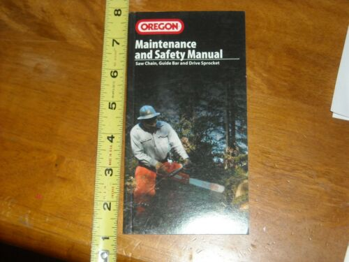 Oregon Chainsaw Chain sharpening Safety and Maintenance Manual Booklet NOS