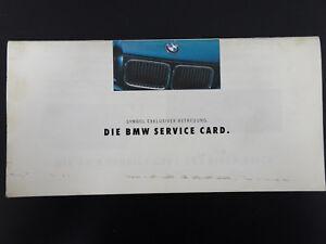 Original-BMW-Service-Card-Uberblick-Pannenhilfsleistungen-Service-Heft