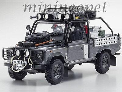 Kyosho Ksr08902tr Land Rover Defender Tomb Raider Movie Edition Resin 1 18 Grey