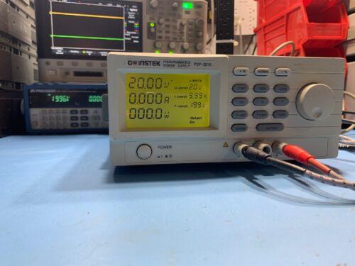 GW Instek PSP-2010 20V 10A Programable Power Supply Used Tested Ships Free