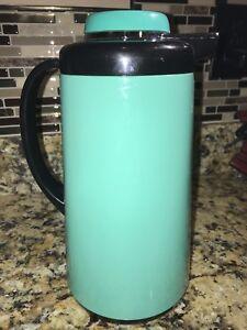 Vintage TEAL BLACK RETRO PHOENIX Thermal Hot Cold Coffee ...