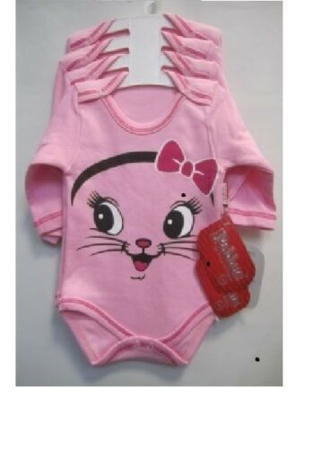 Baby Girl Pink Kids Toddler Long Sleeve Bodysuit Cotton Clothes 3-6-9-12-18M