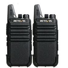 Retevis RT22 two way radios Long Range UHF 2W CTCSS/DCS VOX Walkie Talkies (2X)