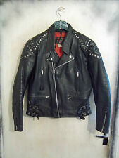 VINTAGE 80'S TT LEATHERS PERFECTO MOTORCYCLE JACKET SIZE 40 PUNK FESTIVAL TT