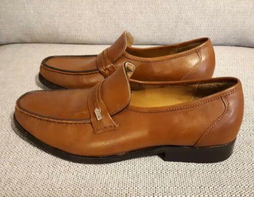 Leather Formal Uomo 9 Loafers scarpe Penny Samuel 5 Handmade Brown Windsor Half 9 OxwHZagq