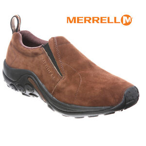 Mens-Merrell-Jungle-Moc-Slip-on-DARK-EARTH-Suede-Comfy-Shoe-All-Sizes-NIB-J65685
