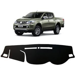 Non-Slip-Black-Dash-mats-Covers-for-2015-2018-Mitsubishi-Triton-RH-Drive
