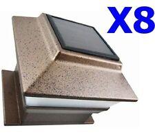 8 Outdoor 4X4 Garden Solar Copper Post Deck Cap Square Fence Light Plastic LED