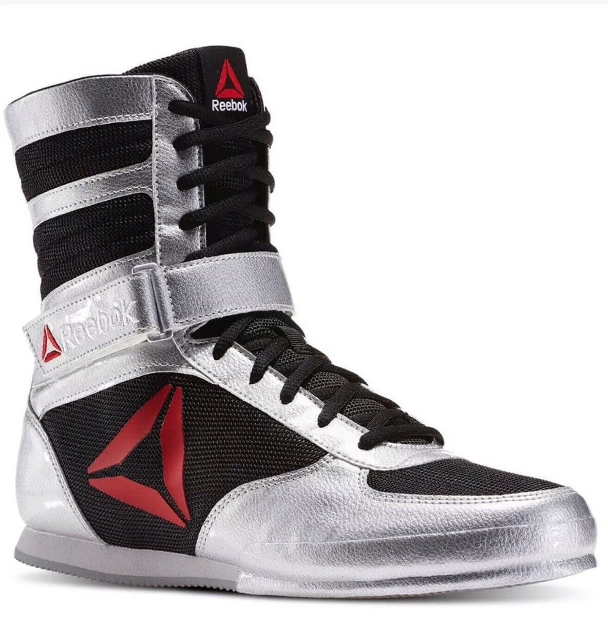 Reebok boxing boots pat bd1346 mens shoes silver black white