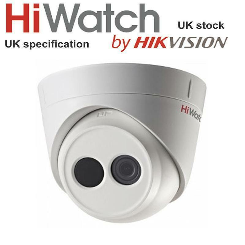 HiWatch IPC-T120 HD 2MP IP Indoor  Network Dome Turret Camera POE IR 30M WDR