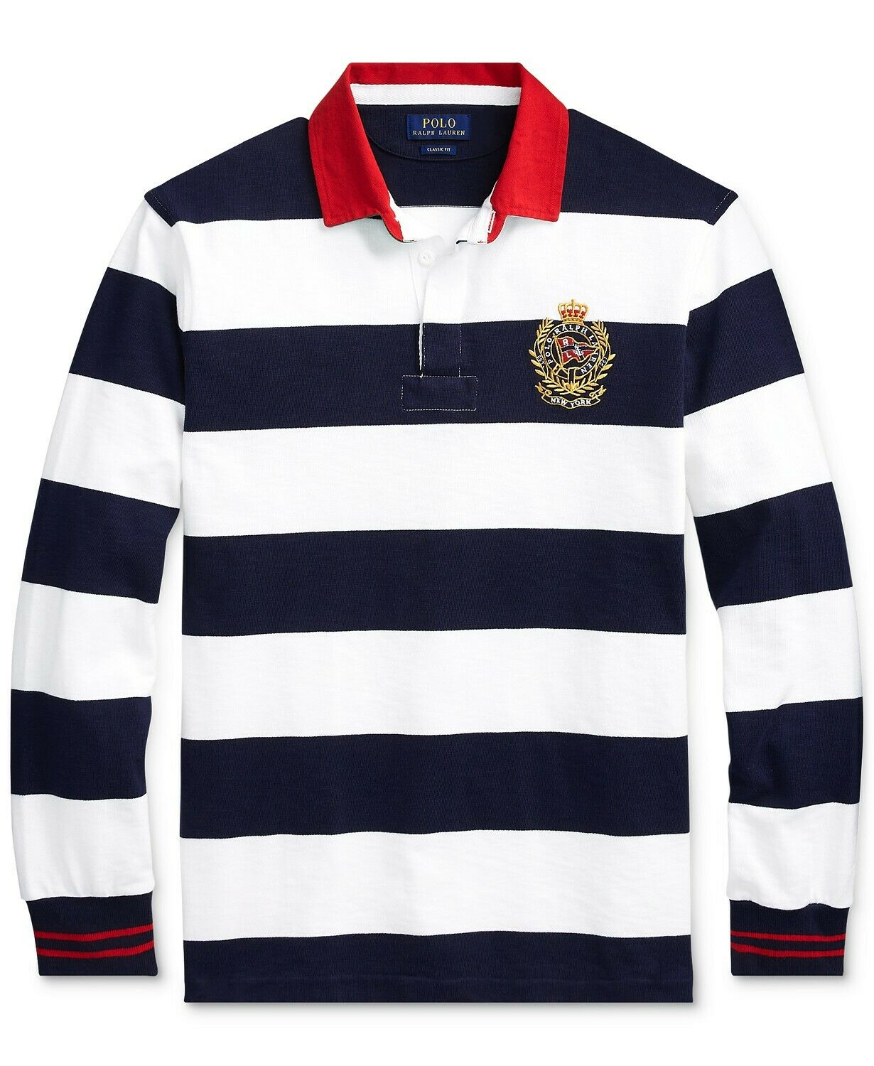 5XBPolo Ralph Lauren Men's Stripe Iconic Rugby Classic Fit Polo Shirt