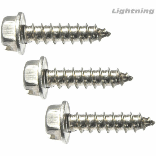 Slotted Indented Hex Washer Sheet Metal Screw Stainless #12X1-1//4/'/' Qty 2500