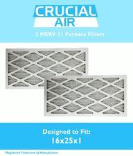 2 MERV 11 Allergen Air Furnace Filters 16x25x1