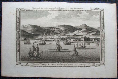 TUNIS, Tunesien Tunisia. Originaler Kupferstich von SHERWIN,  1772