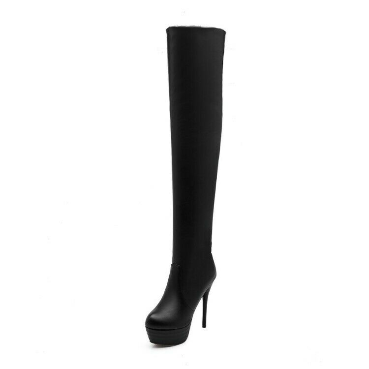 Womens Platform High Stiletto Heel Clubwear Over Knee Thigh Boots shoes size Hot