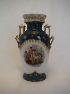 antique austria victoria carlsbad portrait vase signed On pottery painting carlsbad