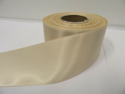3mm 7mm 10mm 15mm 25mm 38mm 50mm NUDE LIGHT BEIGE Satin Ribbon double sided roll
