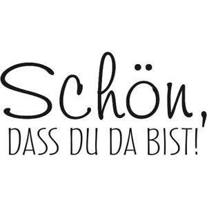 Holzstempel-Gummi-Stempel-montiert-Schriftzug-Schoen-dass-du-da-bist-Meyco-65442