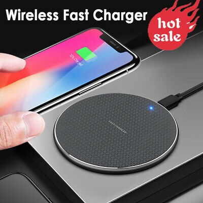Luxury Qi Fast Wireless Charger Charging Pad For Apple iPhone XS Max X 8 Plus do | eBay