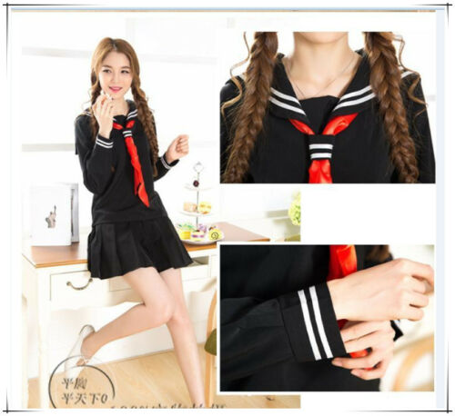 Free ship-005 Sailor suit School uniforms Girl Cosplay Costume Japan uniform