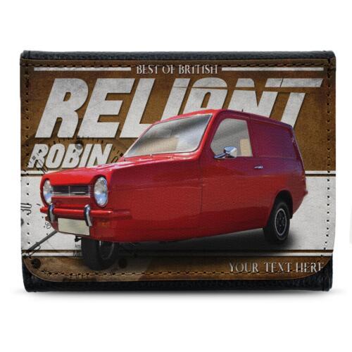 Personnalisé Reliant Robin Portefeuille classique de voiture en cuir Hommes Papa Cadeau CL43