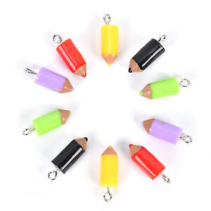 10PCS-Mixed-Pencil-Jewelry-Crafts-Charm-Pendant-Keychain-Necklace-DIY-Finding-DS