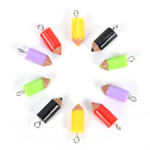 10PCS Mixed Pencil Jewelry Crafts Charm Pendant Necklace Keychain DIY FindingRDR