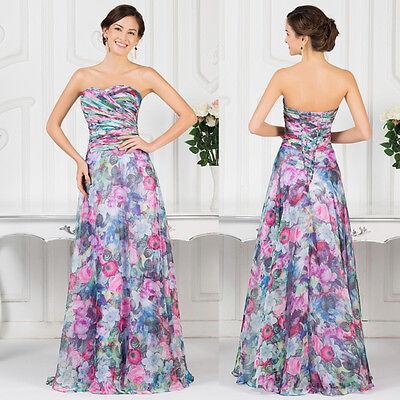 VINTAGE Flower ❤Resort❤ Beach dress Formal Party Evening Prom Long Maxi Dresses