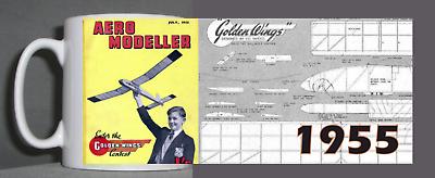 Aeromodeller Tazza Vintage Design 1955 2-mostra Il Titolo Originale Ampia Selezione;