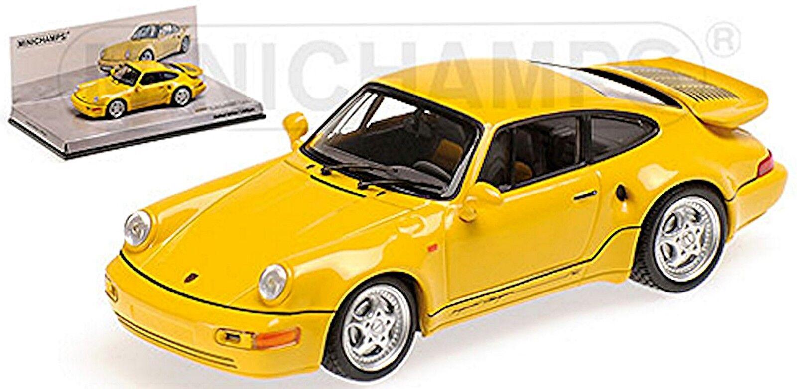 Porsche 911 turbo s 3,3 964 Lightweight 1992 speedjaune jaune 1 43 MINICHAMPS