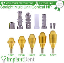 Straight Multi Unit Abutment Kit For Nobel Biocare Active Hex Np Dental Implant