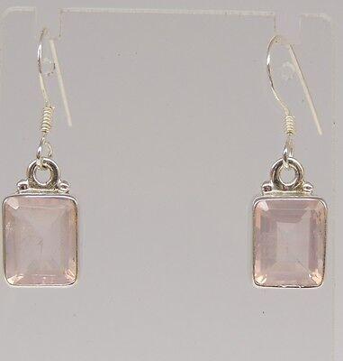 Edle Designer Edelstein Ohrringe Earrings 8,5 mm Granat mit 925 Silber Ohrhaken