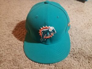 New Era NFL Miami Dolphins Hat Size 7(55.8cm) Preowned  37c18bd3c