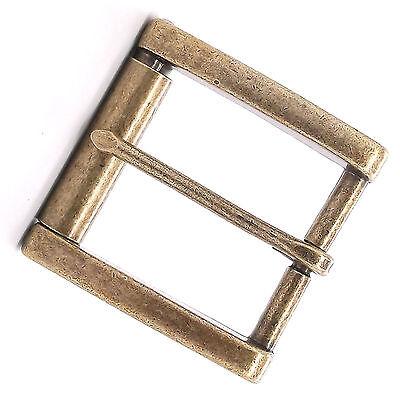 WBL CENTER BAR BUCKLE w//Roller 1//2in Antique Brass 1509-11