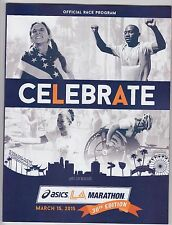 2015 ASICS LA MARATHON OFFICIAL RACE PROGRAM GEBO BURKA AMANE GOBENA COVER