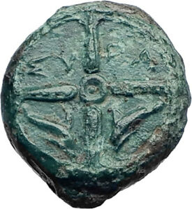 Syracuse-Sicily-425BC-Ancient-Greek-Coin-Nymph-Arethusa-DOLPHINS-i73439