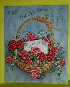 image is loading vintage rare 1950s wallace brown get well greeting - Get Well Greeting Cards