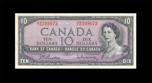 1954-BANK-OF-CANADA-QEII-10-Beattie-amp-Rasminsky-034-O-V-034-GEM-UNC