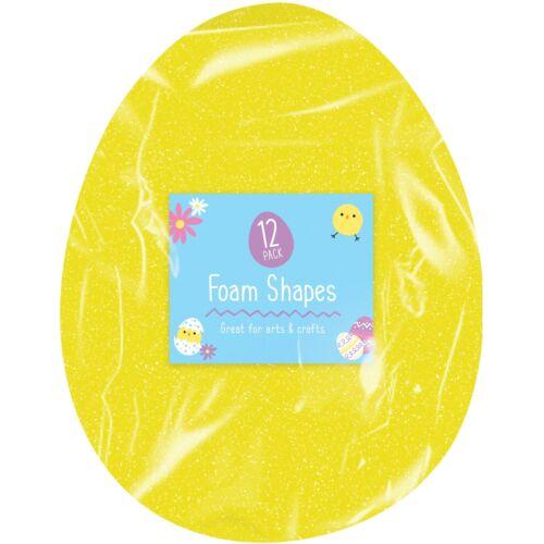 12 x 16cm Bright Easter Egg Foam Sheets Glitter Hunt Craft Pink Blue Yellow