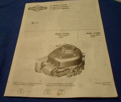 Briggs Stratton 210000 310000 Power Built Intek Engines