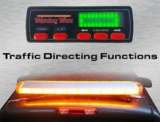"""Warningworx LED Tow Escort Full 47"""" Amber Yellow Strobe Warning Hazard Light Bar"""