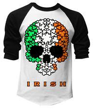 Irish 10 Script Shamrock Sports Jersey Ireland Patrick/'s Men/'s V-Neck Ringer Tee