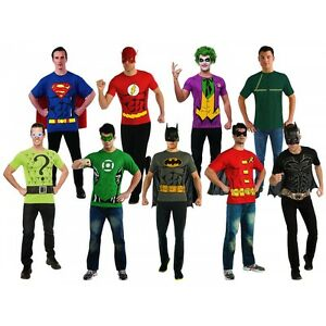 Superhero costumes adult t shirts easy halloween fancy dress ebay image is loading superhero costumes adult t shirts easy halloween fancy solutioingenieria Choice Image