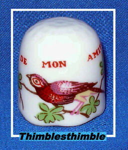 Porcelain China Collectable Thimbles Set of Three Winnie The Pooh